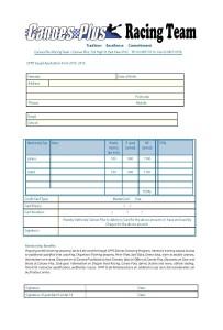 CPRt squad membership form 2016